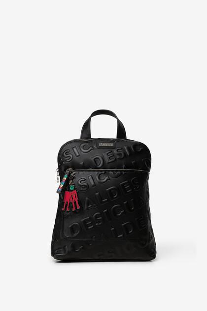 Square logomania backpack