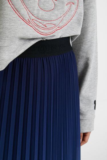 Plisowana spódnica o średniej długości i rozkloszowanym kroju | Desigual