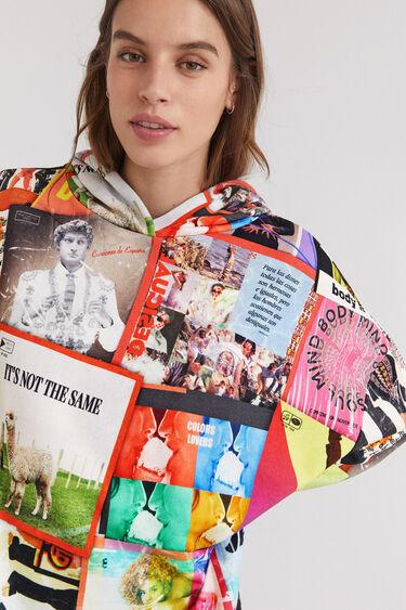 Hooded sweatshirt mix post cards | Desigual