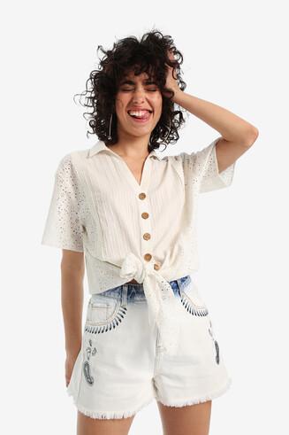 Boho-Hemd mit Knoten