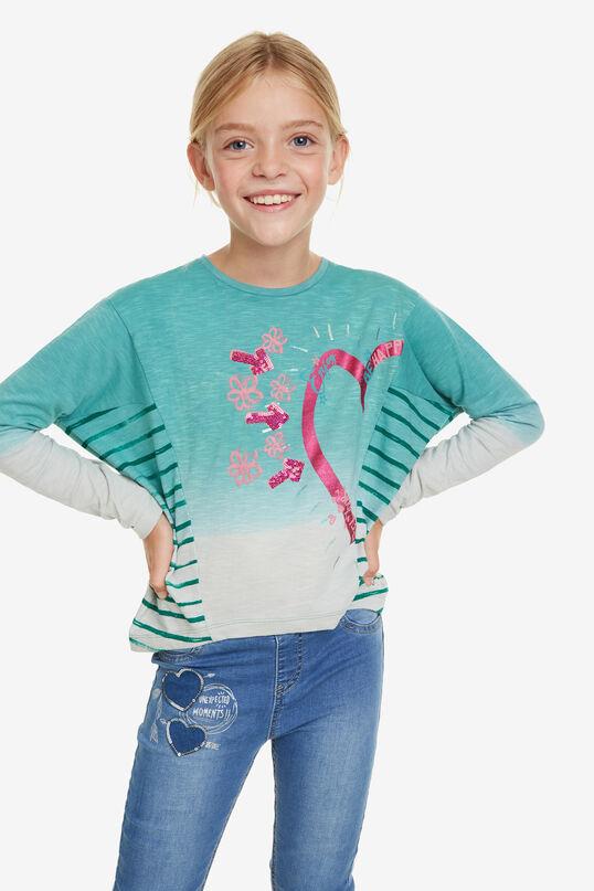 Dip Dye-Shirt mit Herz Sinita | Desigual