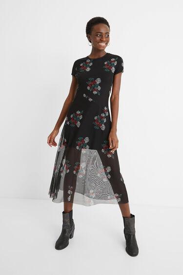 Midi-dress double layer | Desigual