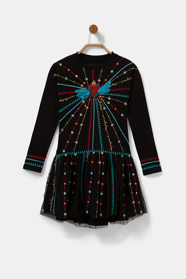 Robe coton jupe brodée | Desigual