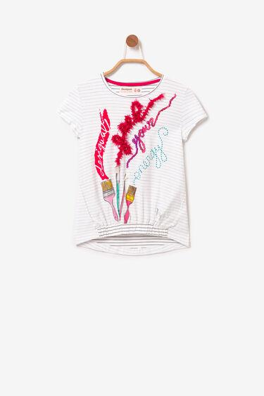 Paintbrush finely striped T-shirt | Desigual