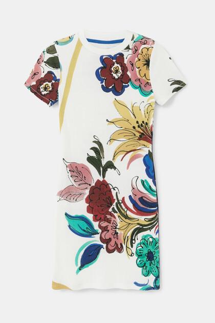 Cotton pinafore dress