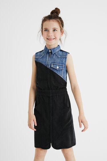 Bimaterial shirt dress | Desigual