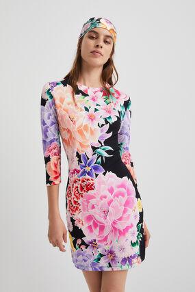 Floral slim short dress