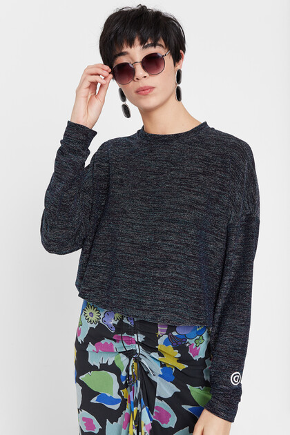 Sweat-shirt en lurex