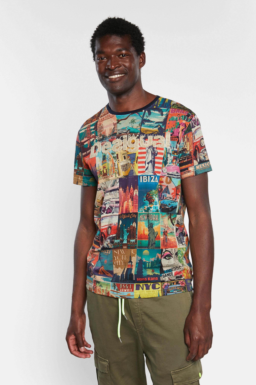 World post cards T-shirt   Desigual.com