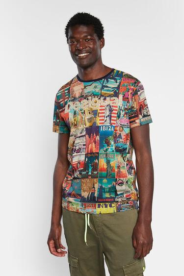 World post cards T-shirt | Desigual