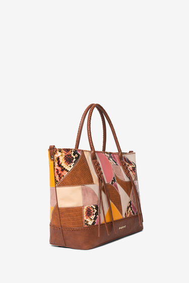 Shopping bag patch blu | Desigual