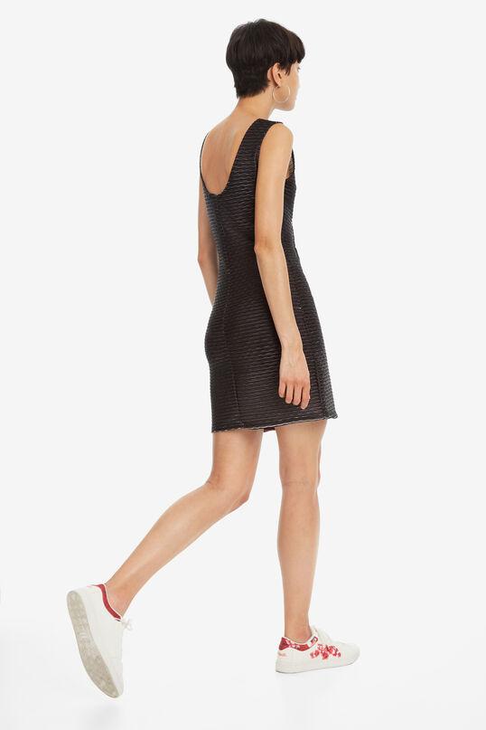Zwarte mini-jurk Flamingo | Desigual