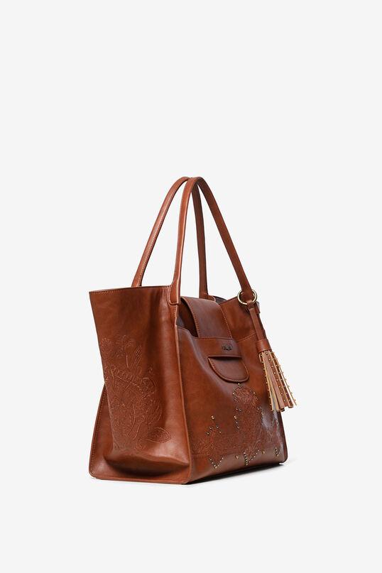 Shoulder bag, embossed with studs | Desigual