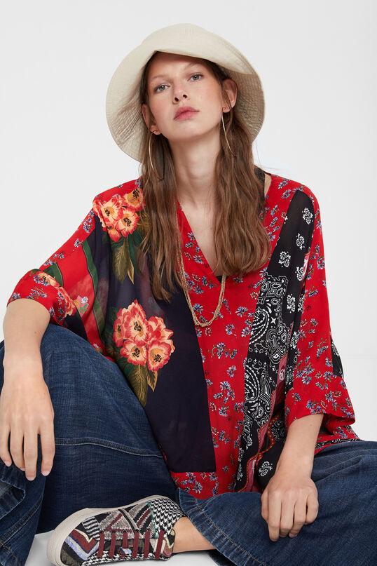 Patchwork poncho blouse | Desigual