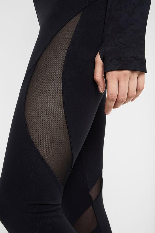 Leggings negres blocs mesh | Desigual