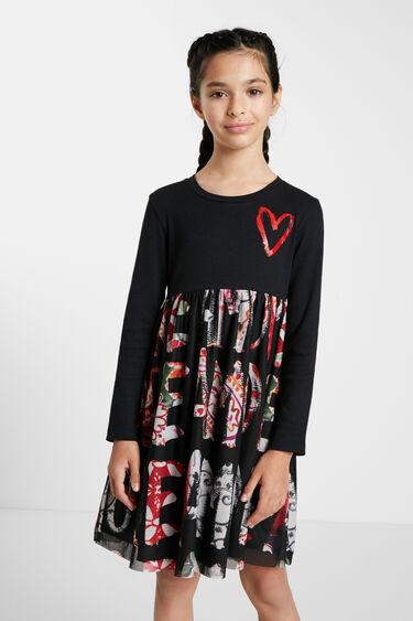 """Amore""-jurk met hoge taille | Desigual"