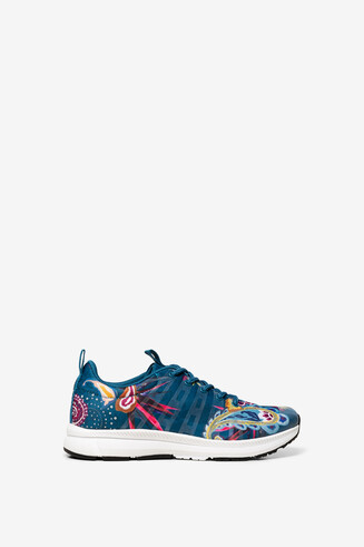Ethnic print runner trainers