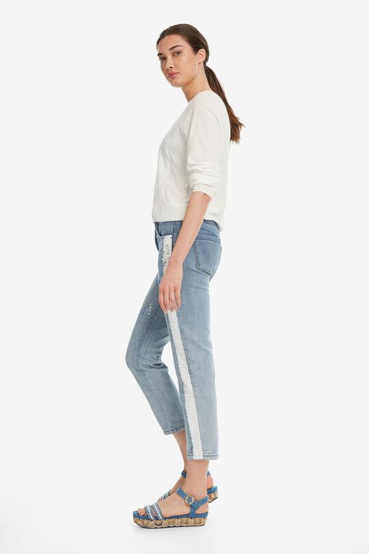 Jeans met pailletten Dublin | Desigual