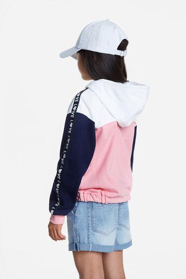 Sweatshirt patchwork mensagem LOVE | Desigual