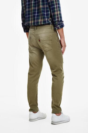 Khaki jean pattern jogger   Desigual