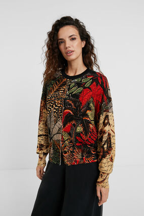 Tricot tropical jacket