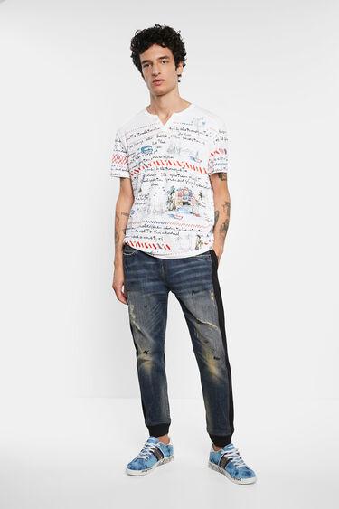 T-shirt mandarin collar buttons   Desigual