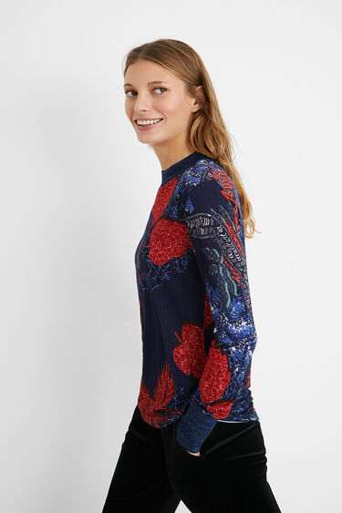 Slim tropical T-shirt | Desigual