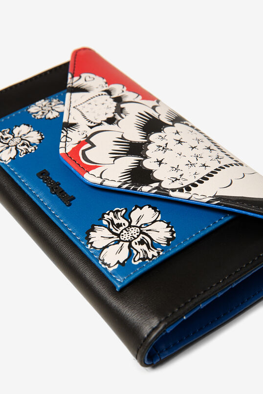 Porte-monnaie allongé à fleurs | Desigual
