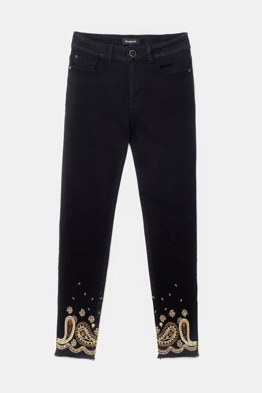 Elastic cropped trousers   Desigual