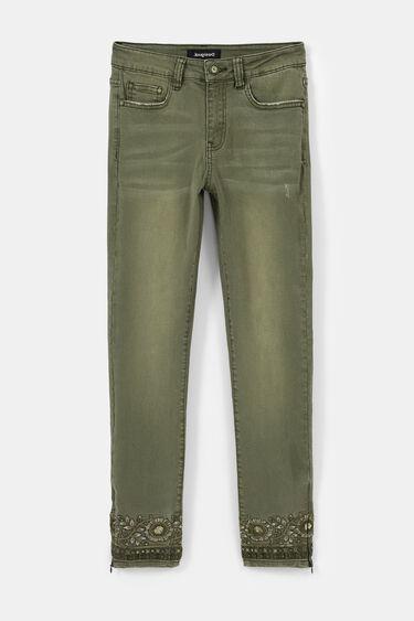 Pantalon en jean skinny exotique | Desigual