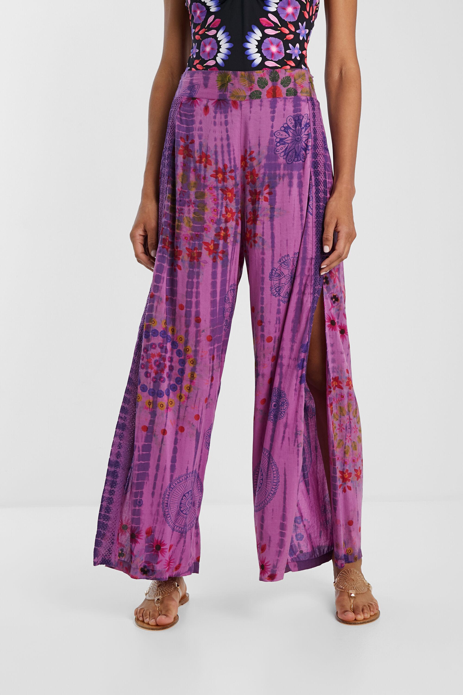 Pantaloni palazzo mandala floreale | Desigual
