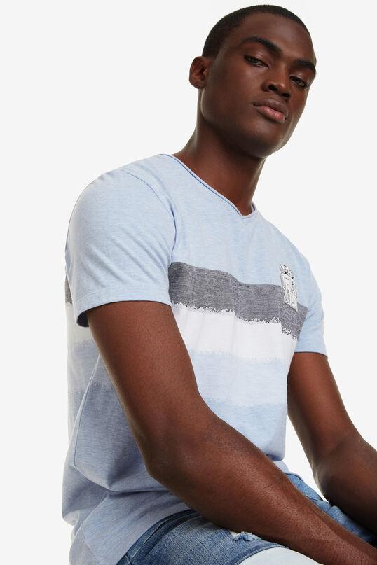 Blue Jacquard T-shirt Ris   Desigual