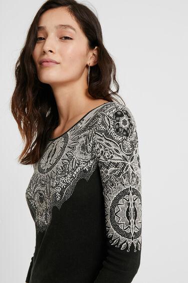 Dopasowana koszulka w mandale   Desigual