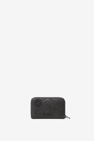 Embroidered rectangular mini-purse