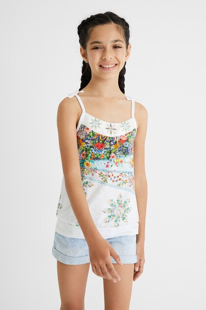 Cotton print tank top