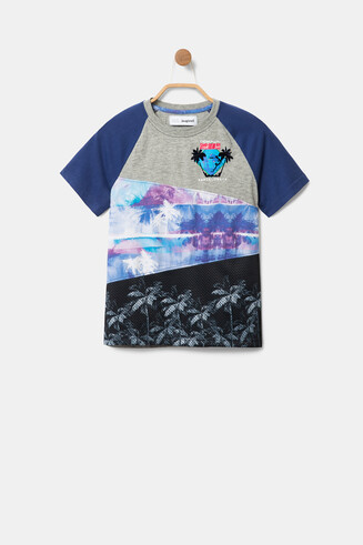 Patchwork Hawaii print T-shirt