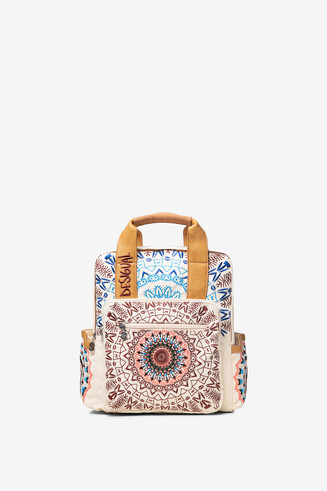 Embroidered mandala backpack