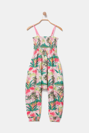 Long Hawaiian jumpsuit with straps | Desigual