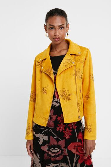 Slim floral biker jacket | Desigual