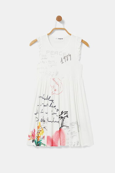 Sleeveless dress messages | Desigual
