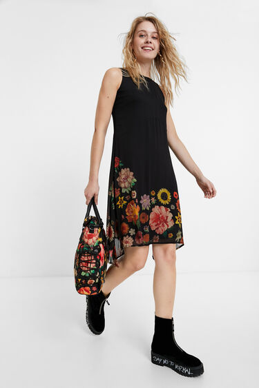 Sleeveless floral dress | Desigual