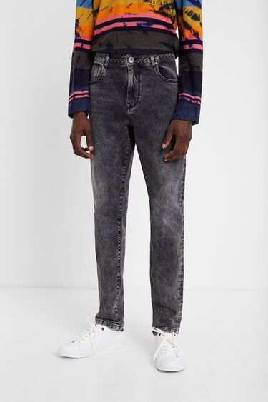 Faded denim jeans | Desigual