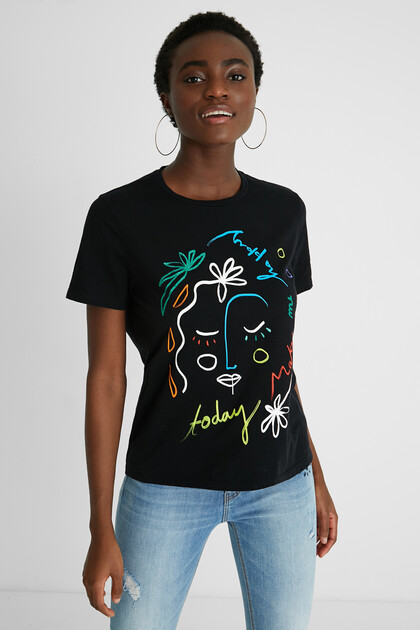 100% cotton arty T-shirt