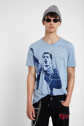 Blue cotton Freddy T-shirt