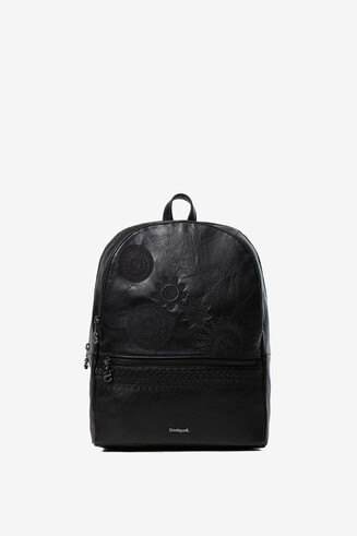 Synthetic leather embossed backpack
