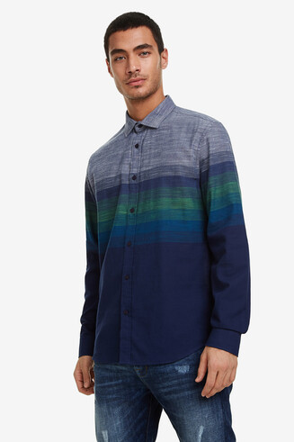 Camisa regular degradat
