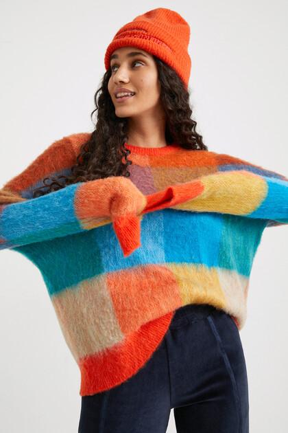Jumper checks chunky knit