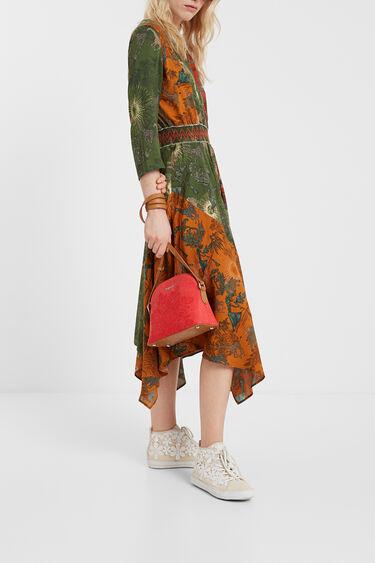 Ethnic asymmetric dress | Desigual