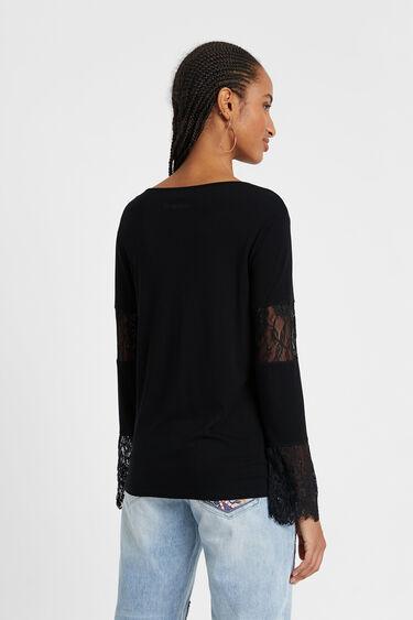 Camiseta básica con encaje | Desigual