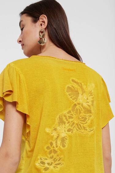Samarreta disseny floral devoré | Desigual